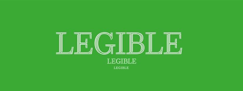 Siempre debemos asegurarnos de que la tipografía escogida sea legible.