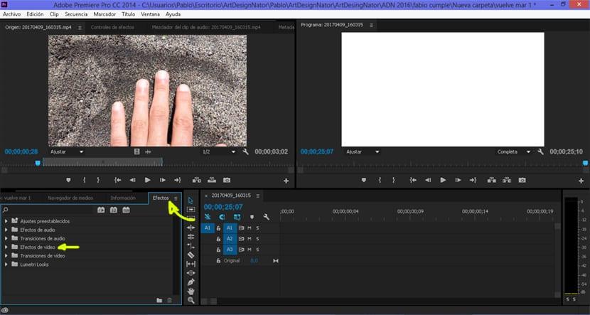 Efectos de vídeo en Adobe Premiere