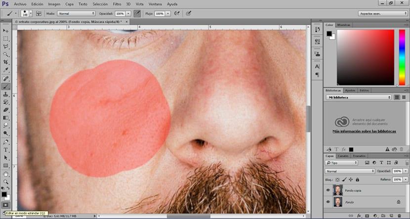 Realiza selecciones rápidas y cómodas con la herramienta máscara rápida de photoshop