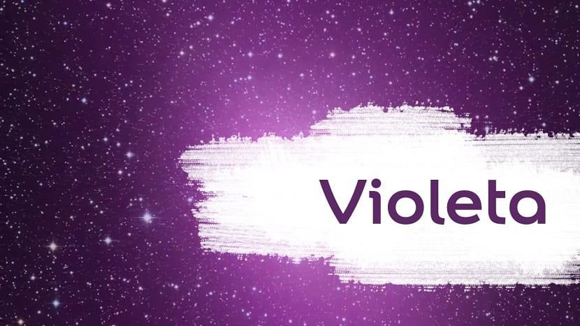 el violeta es considerado un color dulce