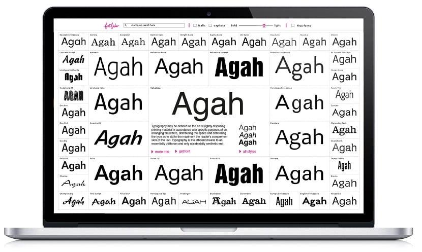 herramienta Font Finder