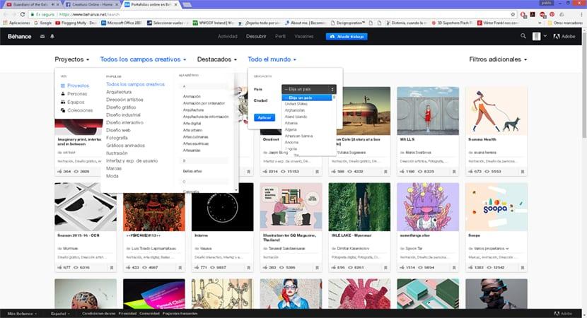 Utiliza la red social de adobe behance para buscar referencias artísticas