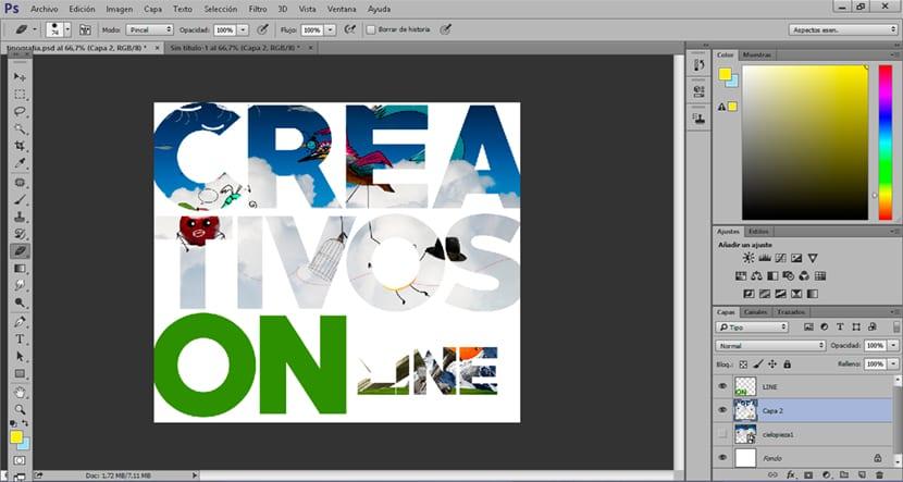 Combinar tipografía más imagen consigue unos resultados muy creativos.