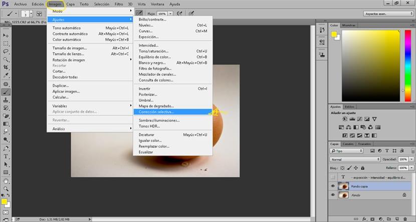 Corrige los colores de tus fotografías de forma efectiva con la opción corrección selectiva de photoshop