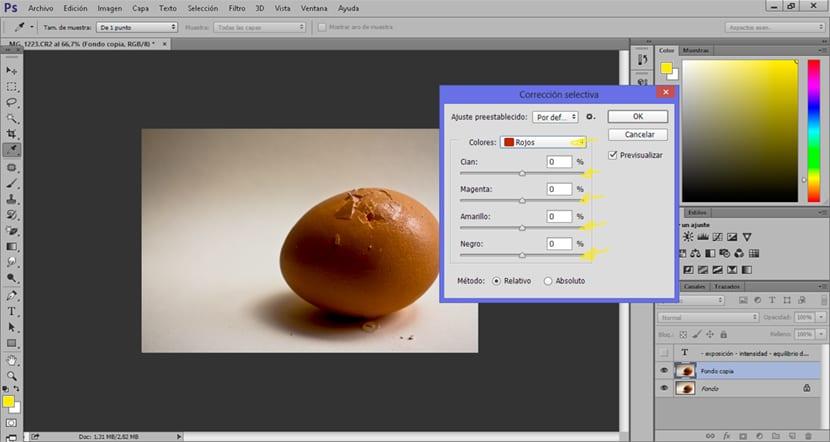 corrección selectiva es la mejor herramienta para corregir el color una fotografía