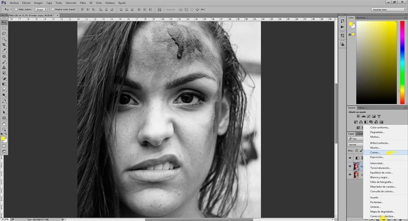 crea sombras y luces con el uso de capas de ajuste en Photoshop