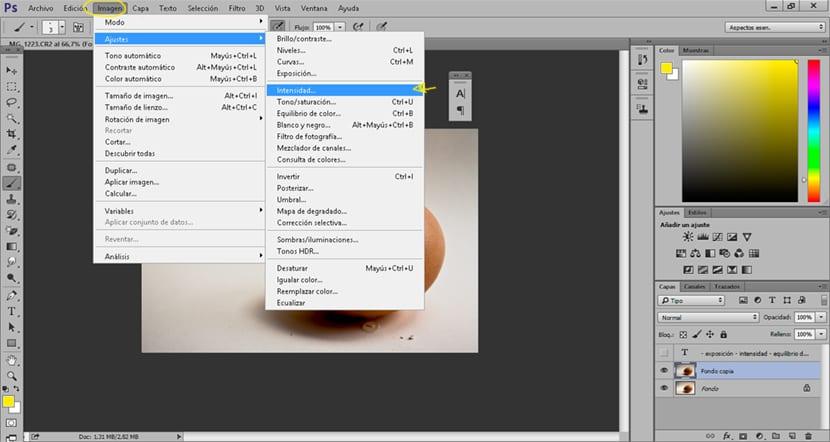 Aumenta la fuerza de los colores de tu fotografía con la opción intensidad de photoshop.