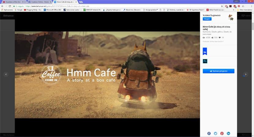 Visualiza proyectos de una manera cómoda desde la red social de Adobe Behance
