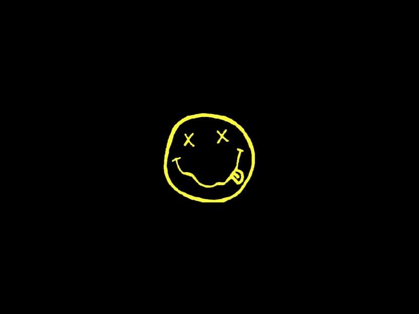 Icono smile del grupo de música nirvana