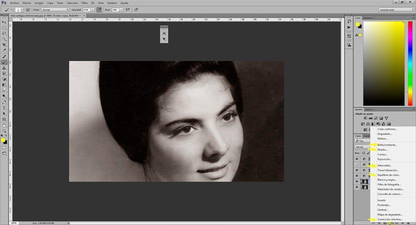 Photoshop dispone de un surtido de herramientas para corregir el aspecto visual de una fotografía