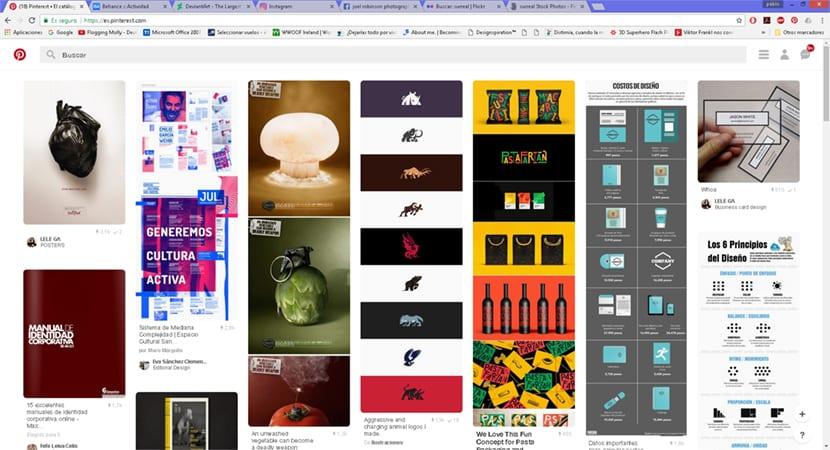 pinterest nos ayuda a buscar referencias sobre todo tipo de proyectos gráficos