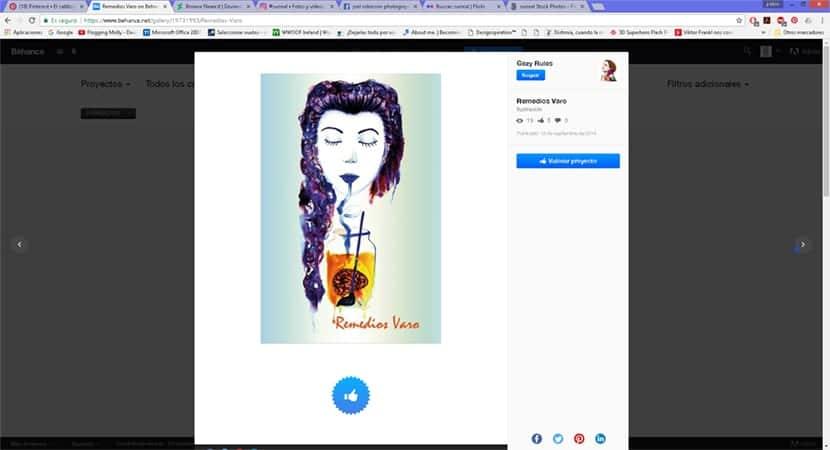 Buscar artistas que ya conocemos es interesante para inspirarnos en un proyecto gráfico