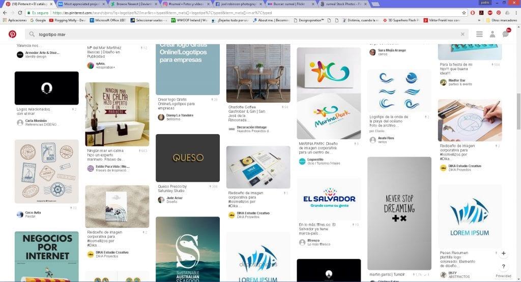 Buscar logotipos nos ayuda a inspirarnos en futuros trabajos