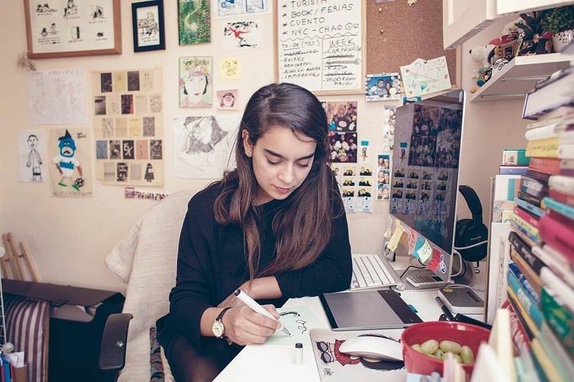 Catalina Bustos es una ilustradora independiente