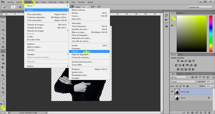 Podemos usar umbral para conseguir un estilo diferente en nuestra imagen