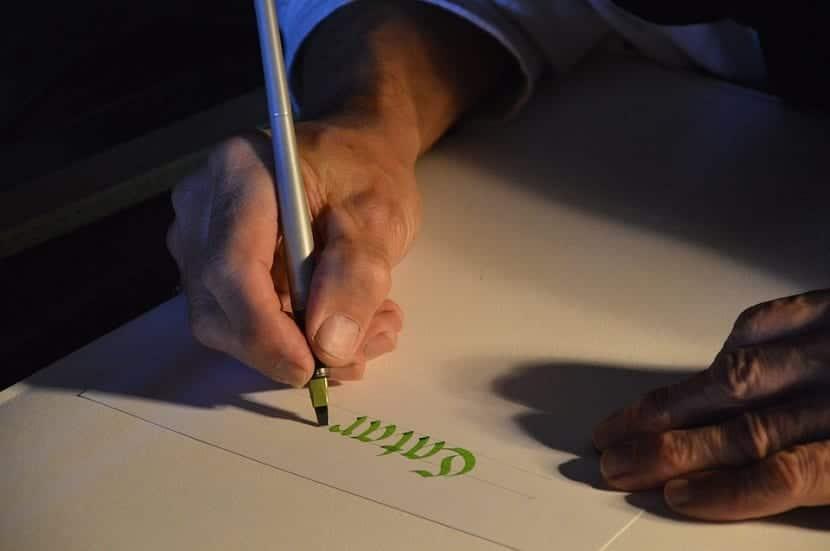 caligrafia en el diseno grafico