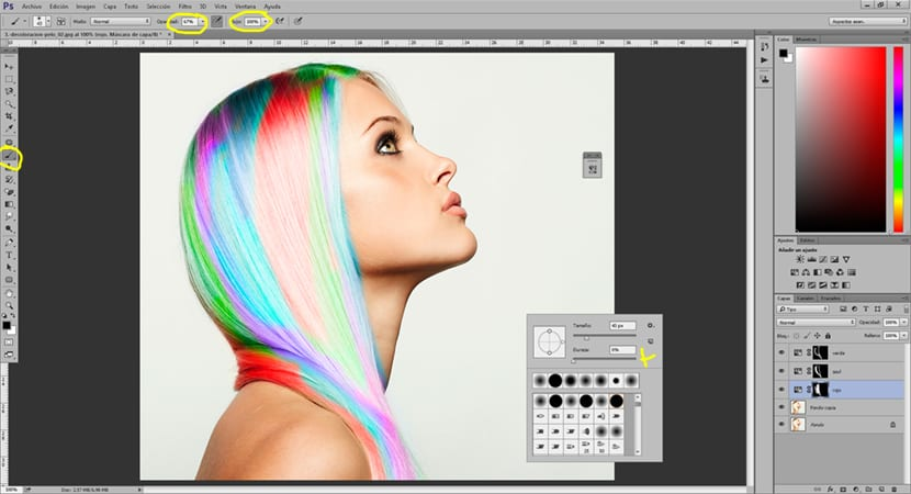 Podemos cambiar el color de nuestro pelo con la ayuda de Photoshop
