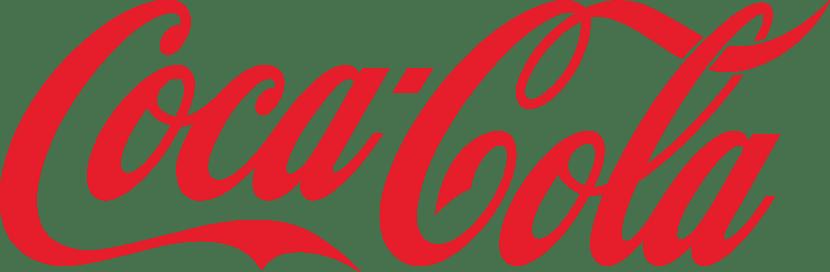 Coca-cola tiene una tipografía compleja pero fácil de recordar