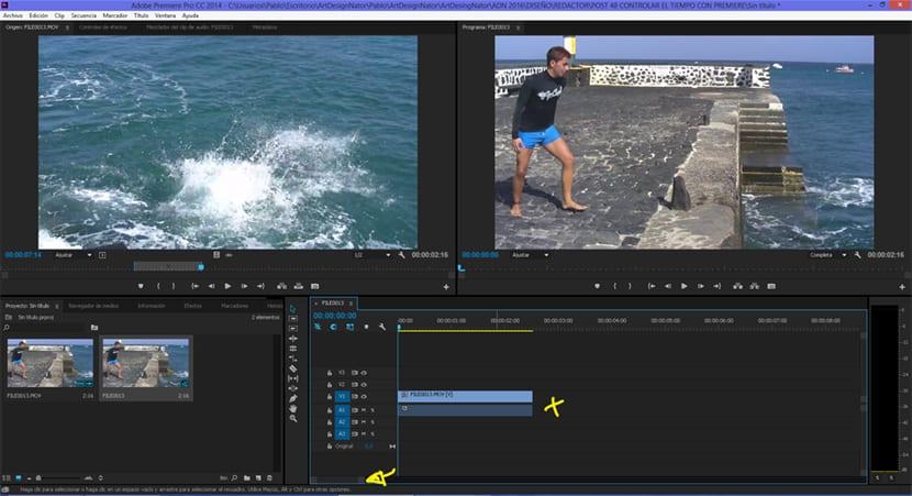 En la línea de tiempo se editan los vídeos