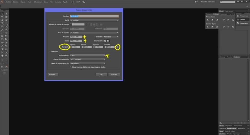 Si nuestro diseño va a ser llevado a imprenta debemos usar el espacio de color CMYK