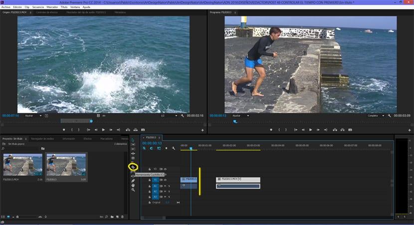 La herramienta cuchilla de premiere nos ayuda a cortar vídeos de forma rápida y muy precisa