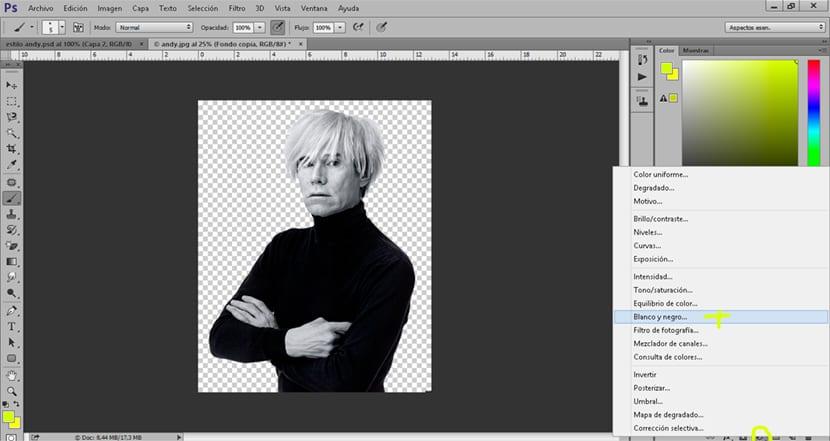 convertimos nuestra fotografía en blanco y negro