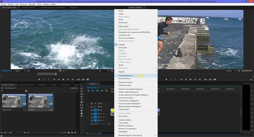 Cambia la velocidad de tus vídeos con adobe premiere