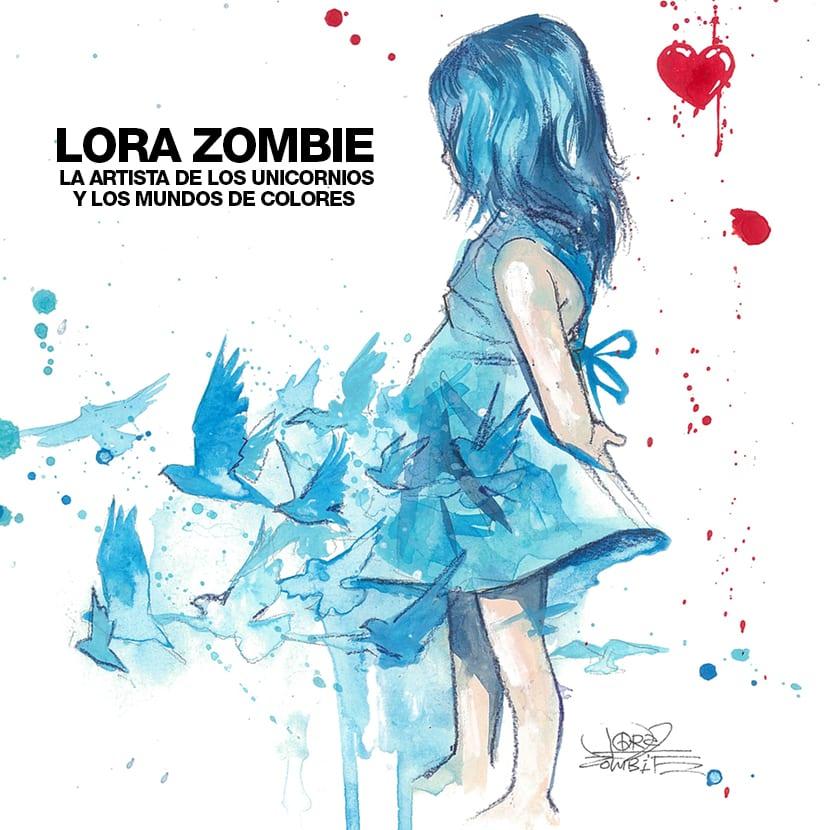 Lora zombie tiene un estilo único muy creativo