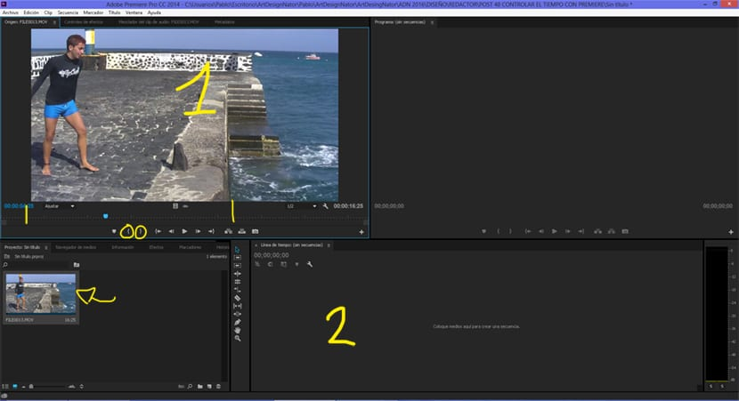 seleccionamos los fragmentos de vídeos para su edición posterior