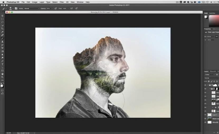 tutorial doble fondo photoshop