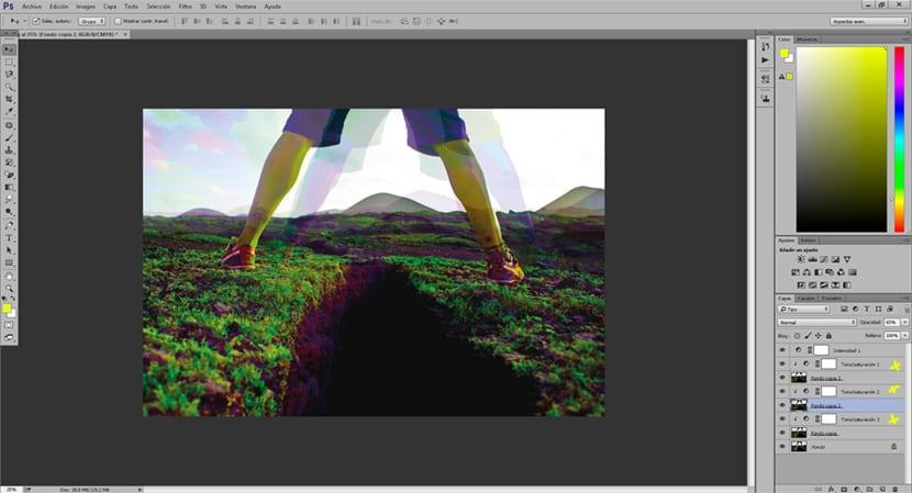 El efecto de sueño en Photoshop combina herramientas de opacidad y capas de ajuste