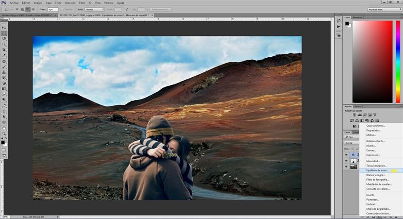 El equilibro de color nos ayuda a conseguir un fotomontaje más realista