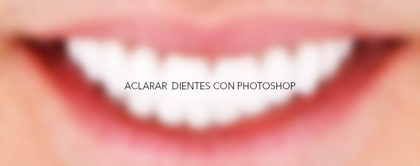 Aclarar los dientes con photoshop