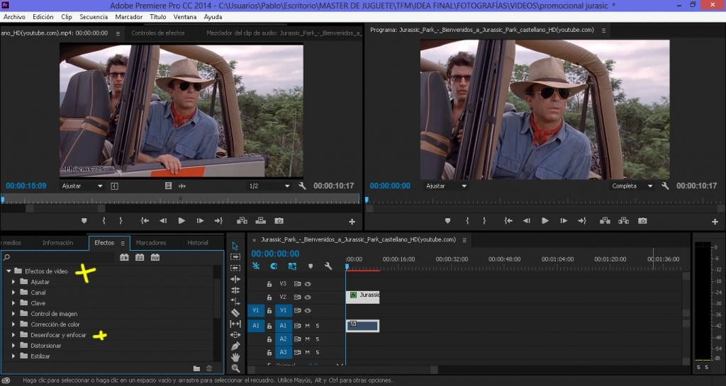 Aplicamos un efecto de desenfoque en nuestro vídeo