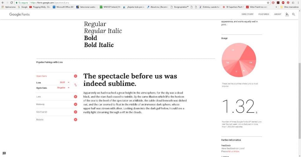 La herramienta Google Font permite combinar tipografías de forma rápida
