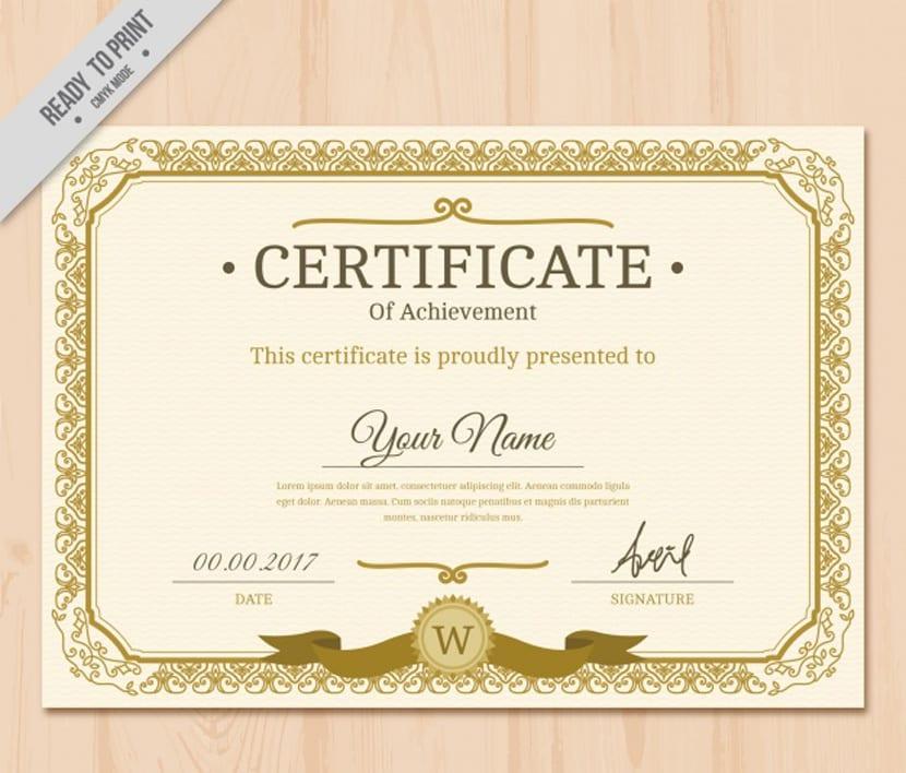 Graphic Design Certificate Borders