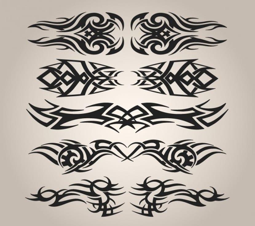 Conjunto de tatuajes tribales