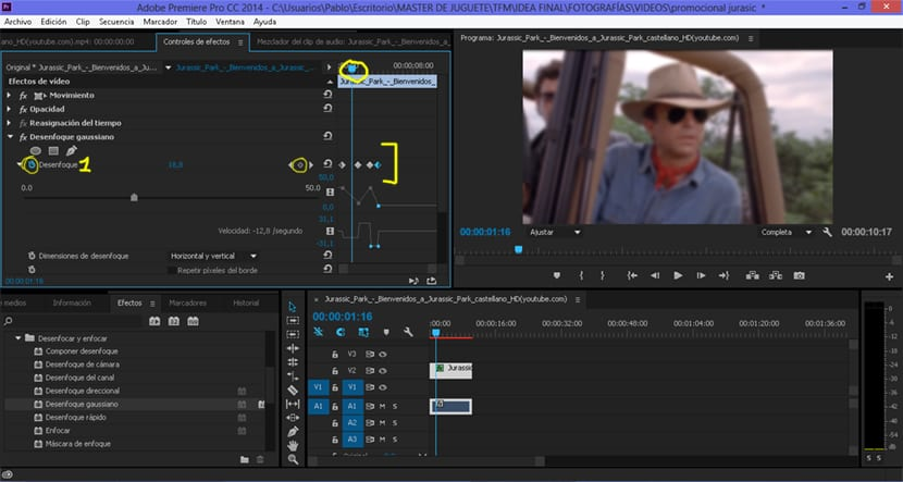 Los fotogramas clave se usan para marcar zonas en un vídeo