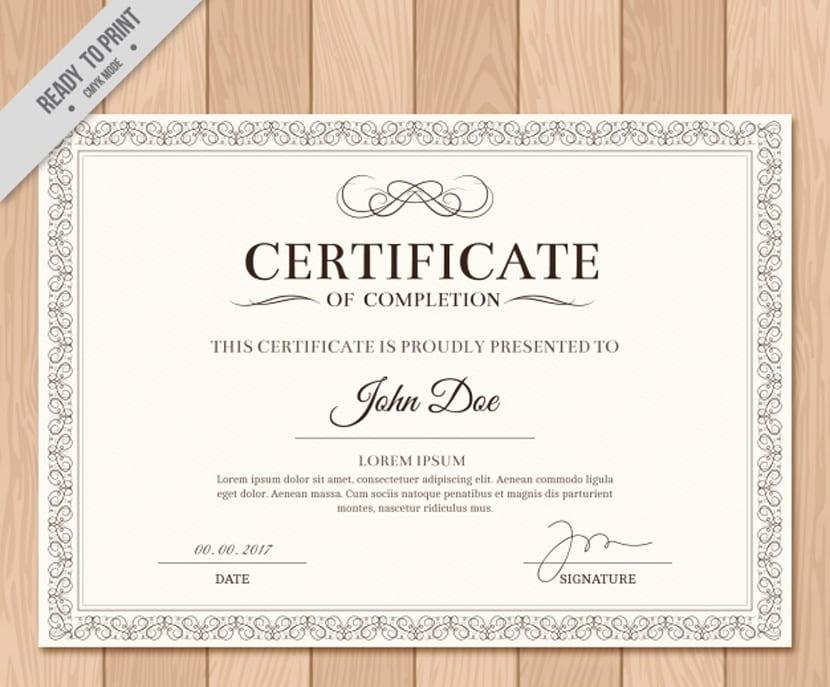 37 plantillas para diplomas y certificados completamente gratis