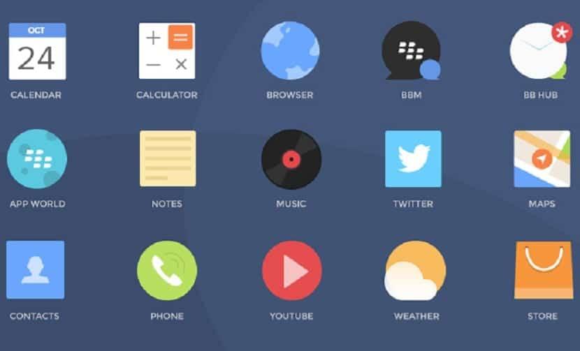 diferentes iconos para utilizar