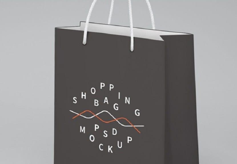 imagen de tu logo en una bolsa