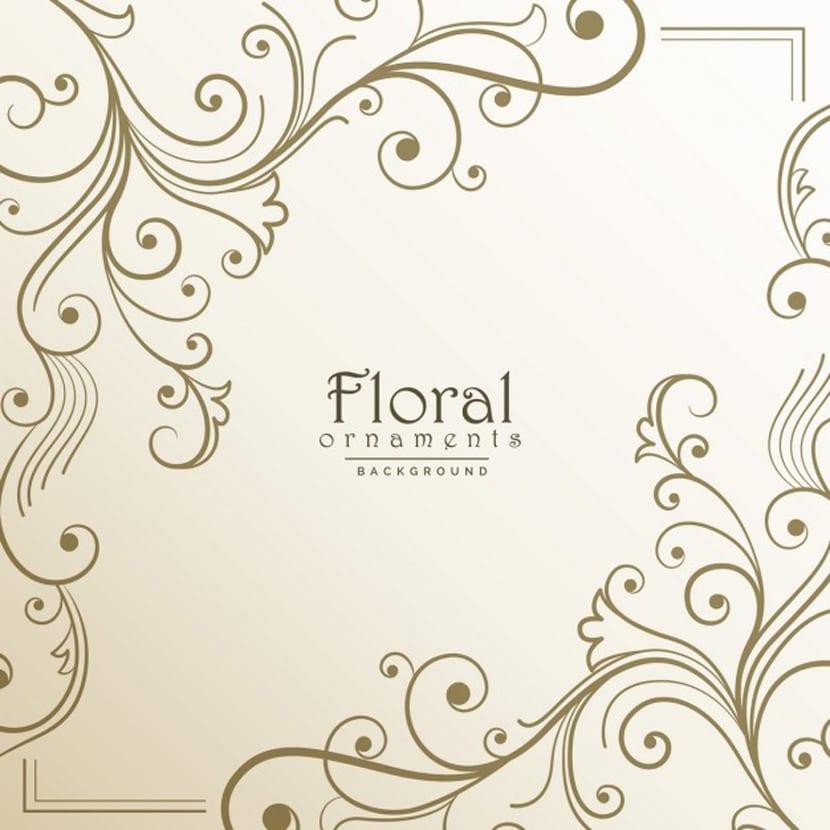 Marco floral sobre un fondo claro