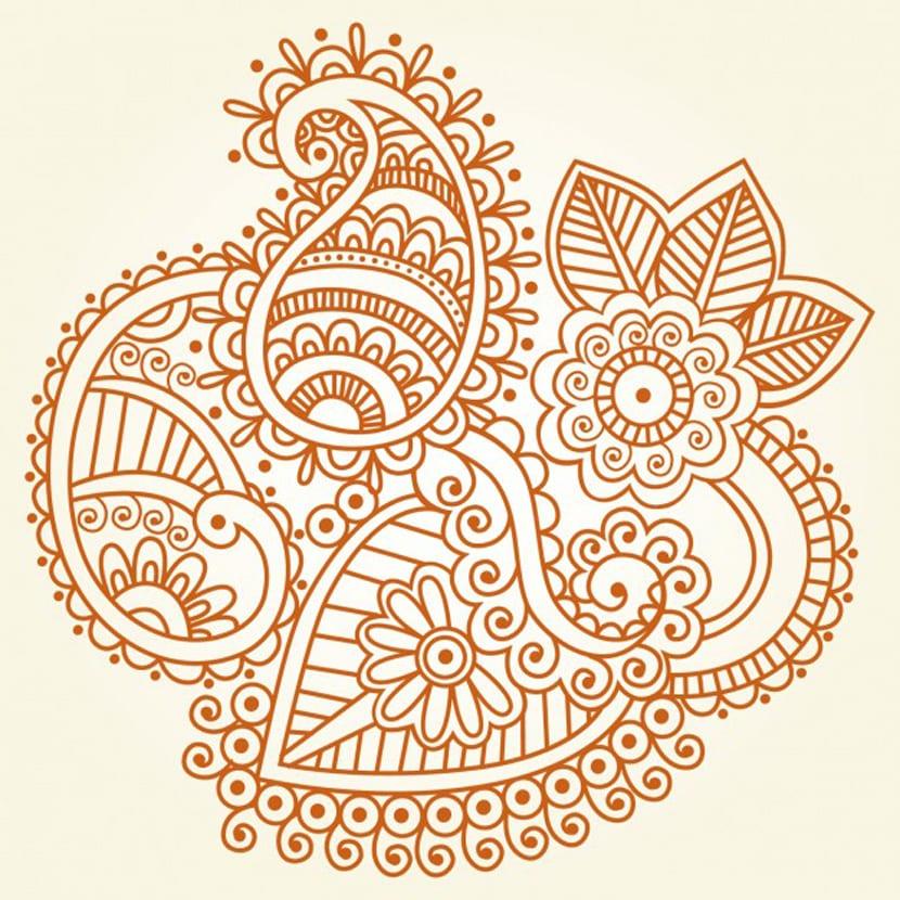 Ornamento de Henna indio