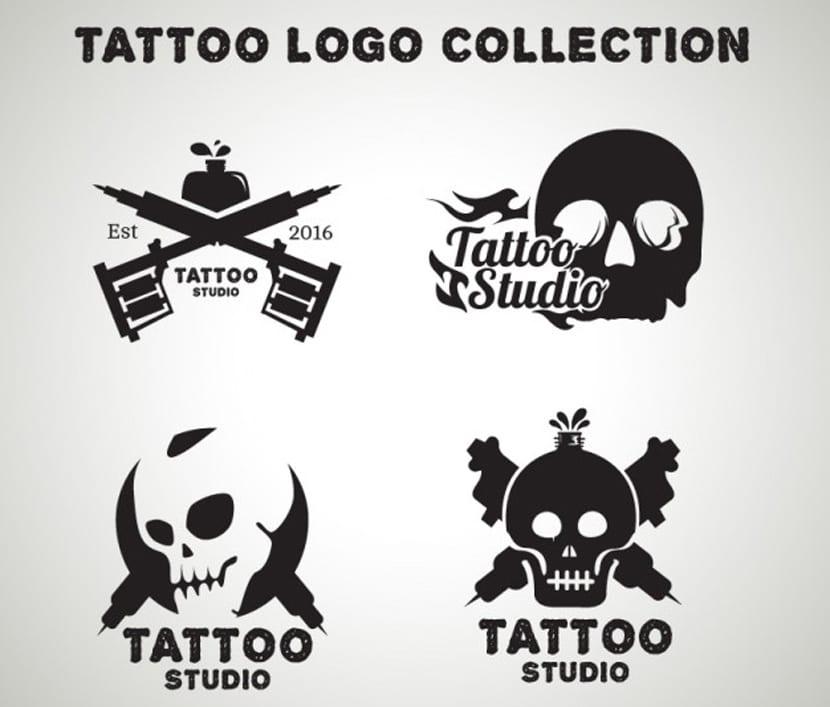 Pack de logos de tatuajes de calaveras