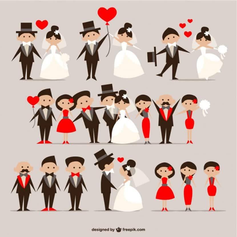 Paquete de parejas de boda