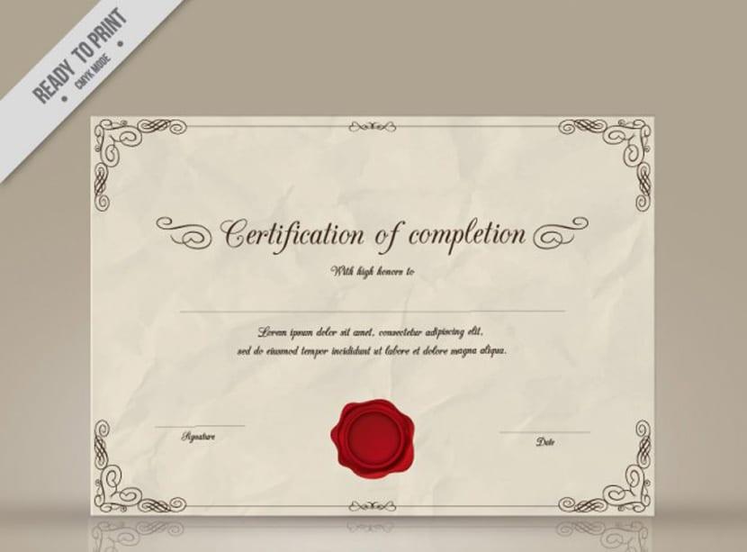 Plantilla de certificación cumpled