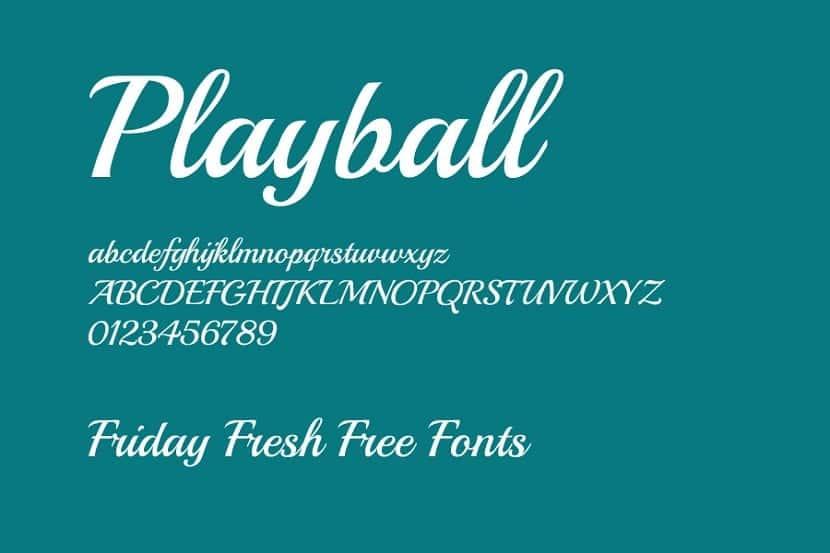 tipo de fuente llamada playball