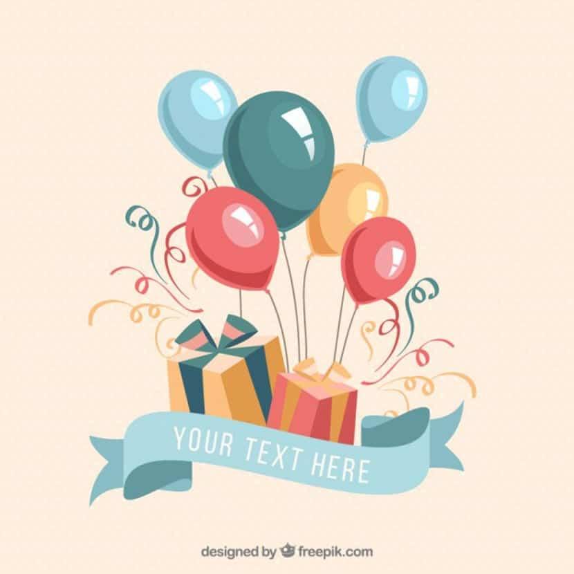Regalos de cumpleaños y globos
