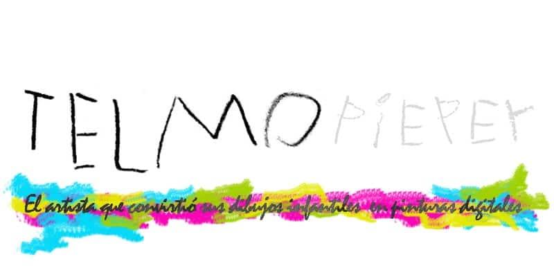 El artista Telmo Pieper recreó sus dibujos infantiles con ilustraciones digitales