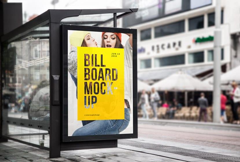 Biển quảng cáo dừng xe buýt